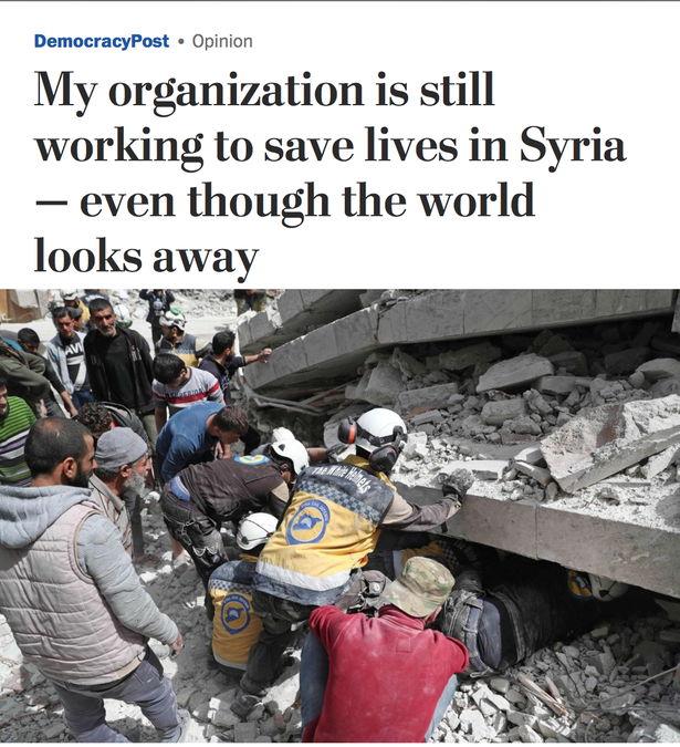 Raed Al Saleh oped in Washington Post