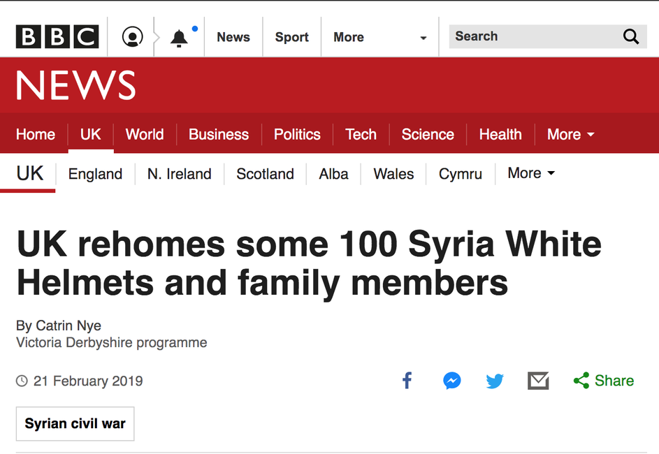 Screen shot of BBC news article