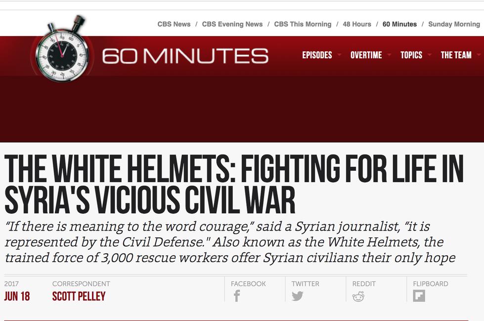 screen shot of CBS article