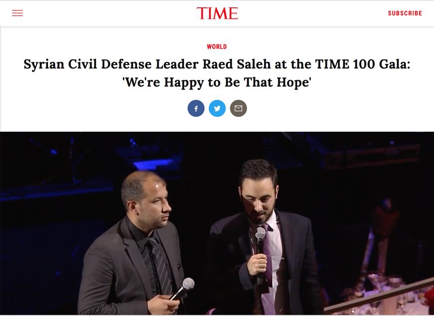 Screen shot of Time magazine video