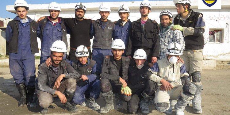 the first rescue team in Aleppo