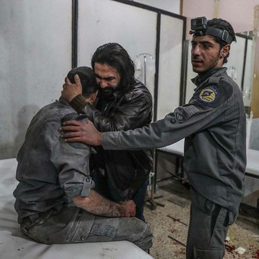 استداف مركز الدفاع المدني في الغوطة