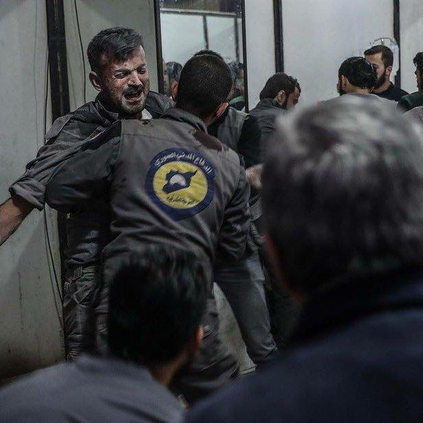 استهداف متطوعي الغوطة الشرقية